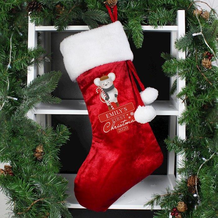 '1st Christmas' Mouse Stocking