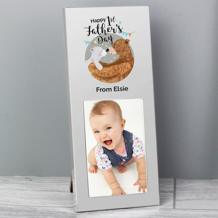 Happy 1st Father's Day Daddy Bear 2x3 Photo Frame