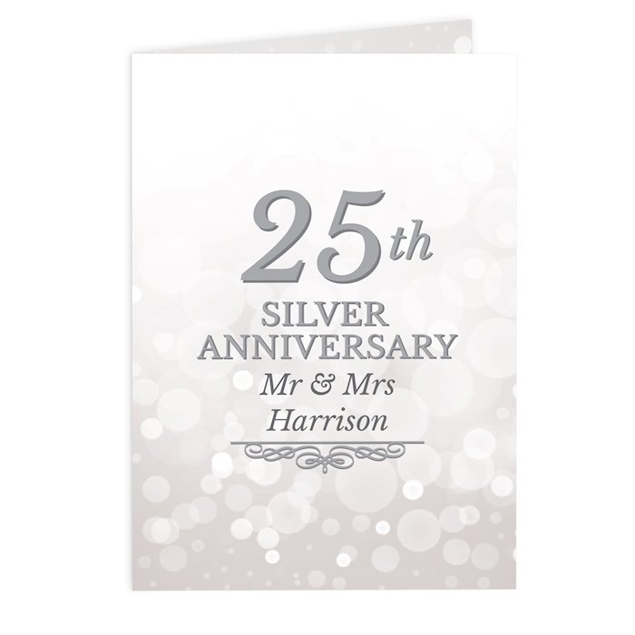 25th Silver Anniversary Card