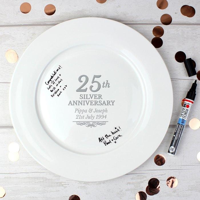 25th Silver Anniversary Plate