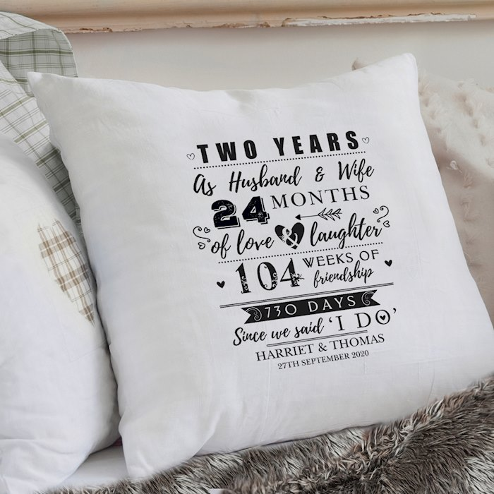 2nd Anniversary Cushion Cover