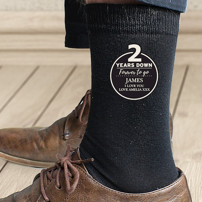 2nd Anniversary Mens Socks
