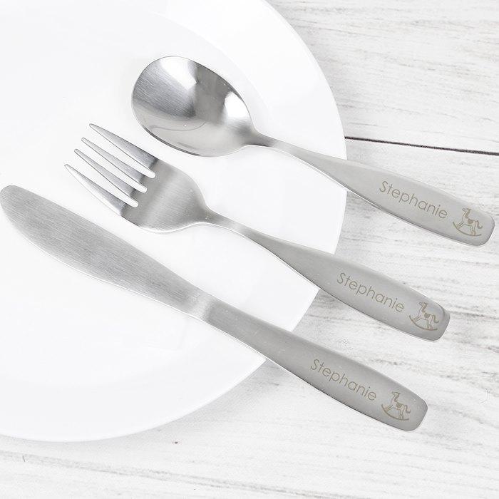 3 Piece Rocking Horse Cutlery Set