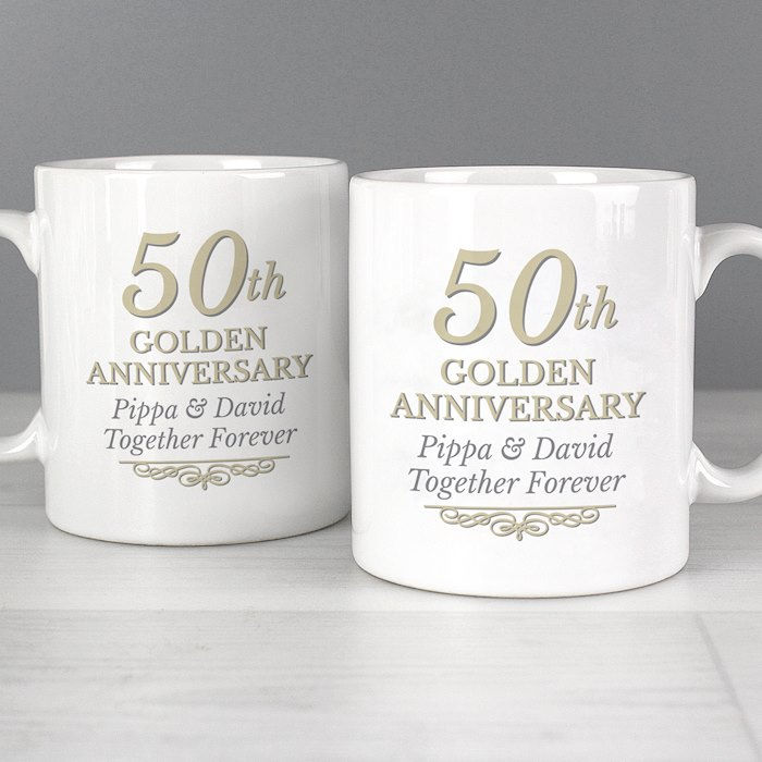 50th Golden Anniversary Mug Set