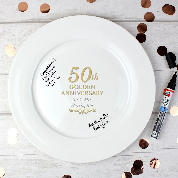50th Golden Anniversary Plate