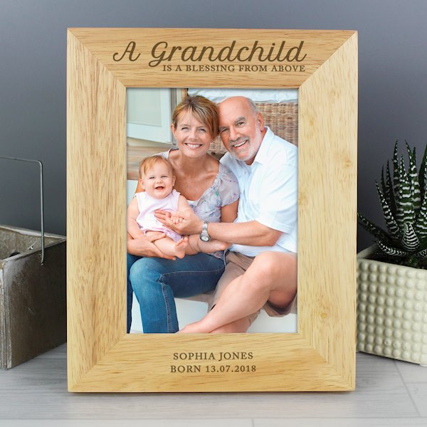 'A Grandchild is a Blessing' 5x7 Wooden Photo Frame