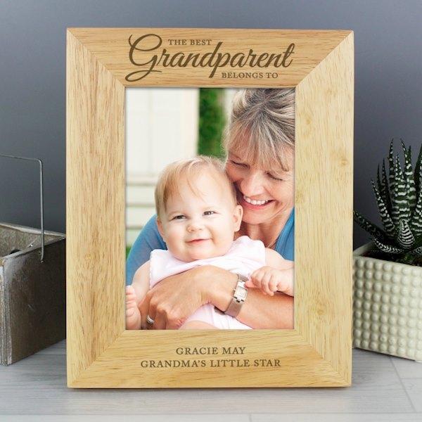 'The Best Grandparent' 5x7 Wooden Photo Frame