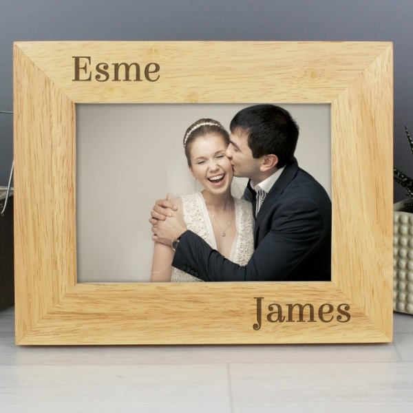 7x5 Couples Wooden Photo Frame