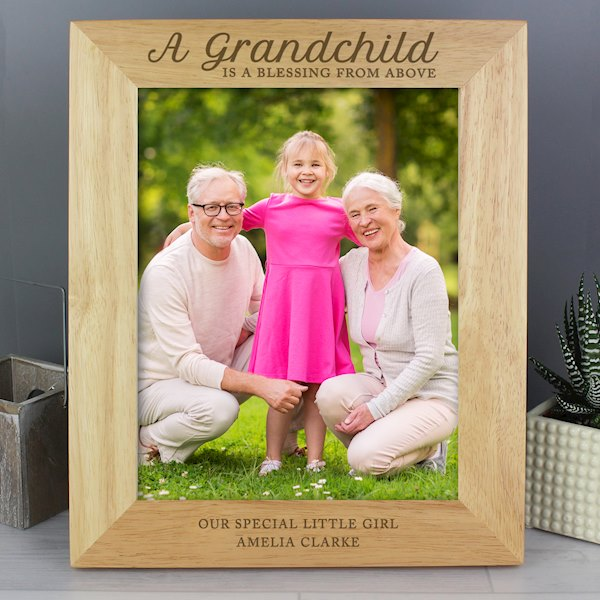 'A Grandchild is a Blessing' 8x10 Wooden Photo Frame