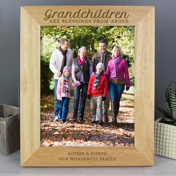 'Grandchildren are a Blessing' 8x10 Wooden Photo Frame