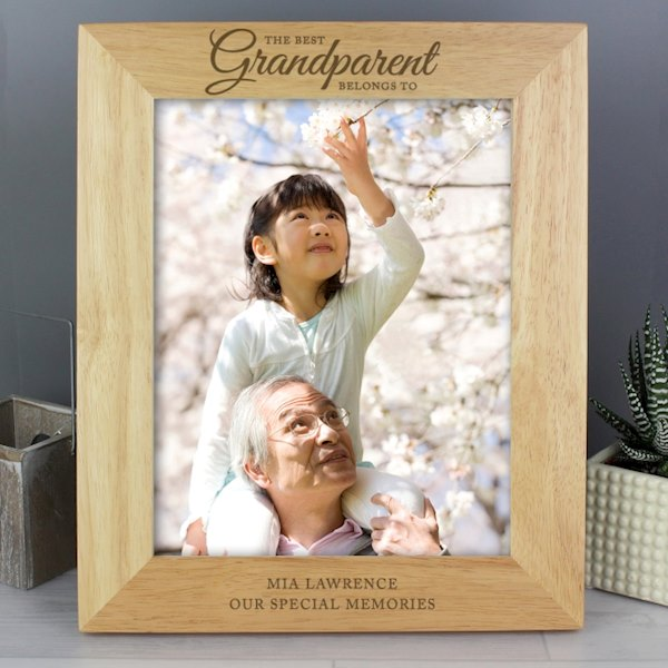 'The Best Grandparent' 8x10 Wooden Photo Frame