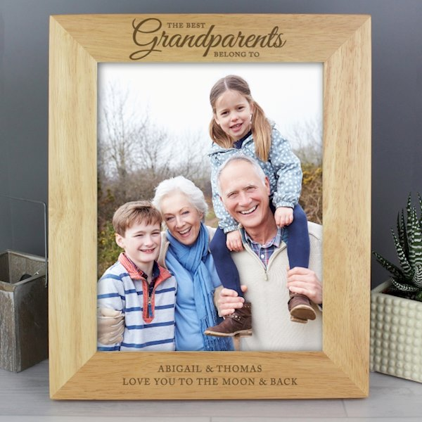 'The Best Grandparents' 8x10 Wooden Photo Frame