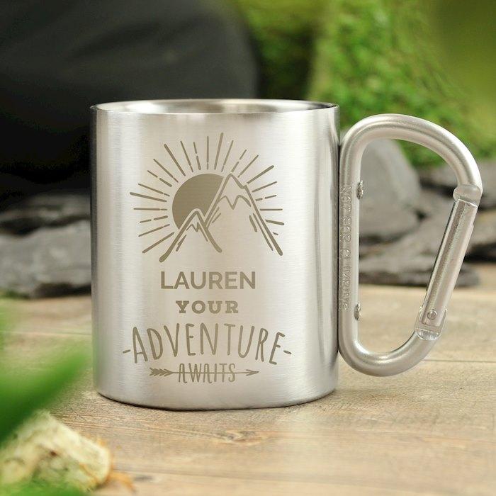 'Adventure Awaits' Stainless Steel Mug