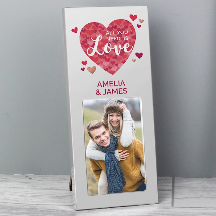 'All You Need is Love' Confetti Hearts 2x3 Photo Frame