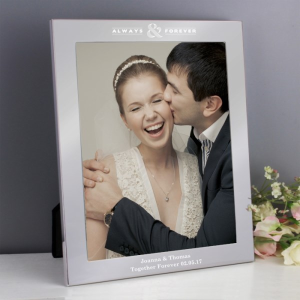 Always & Forever Silver 8x10 Photo Frame