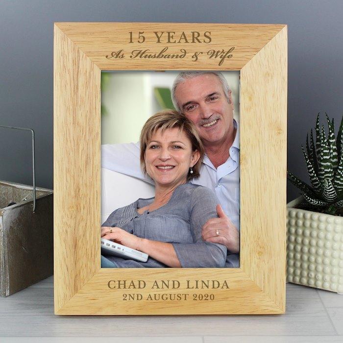 Anniversary 5x7 Wooden Portrait Photo Frame