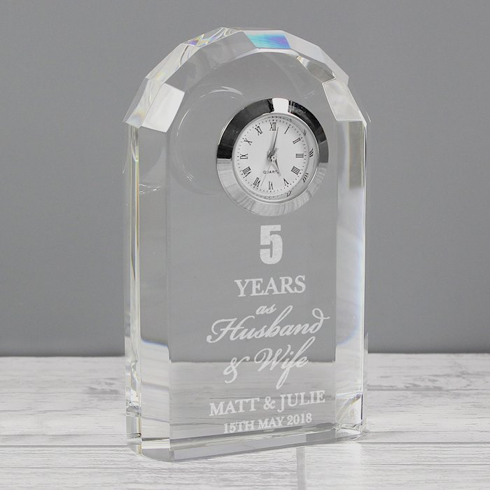 Anniversary Crystal Clock