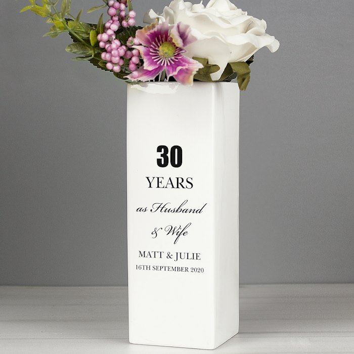 Anniversary Square Vase