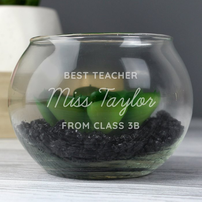Any Message Glass Terrarium