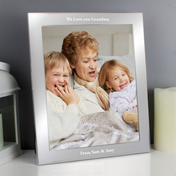 Any Message Silver 8x10 Photo Frame