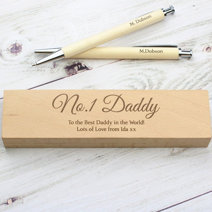 Any Message Wooden Pen & Pencil Box Set