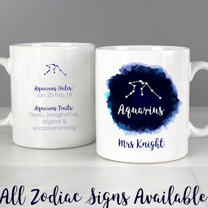 Aquarius Zodiac Star Sign Mug (January 20th - February 18th)
