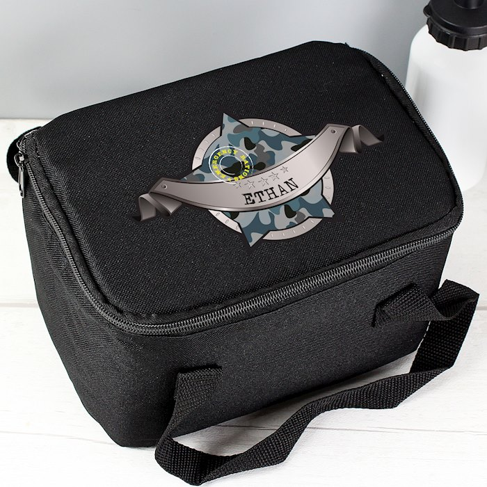 Army Camo Black Lunch Bag