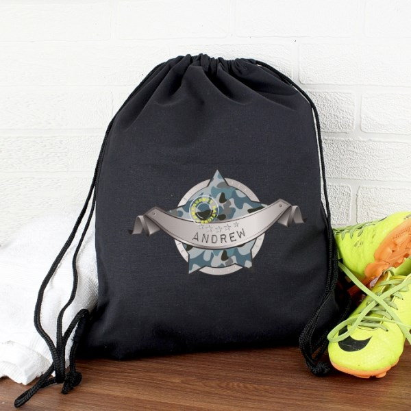 Army Camo Black Swim & Kit Bag