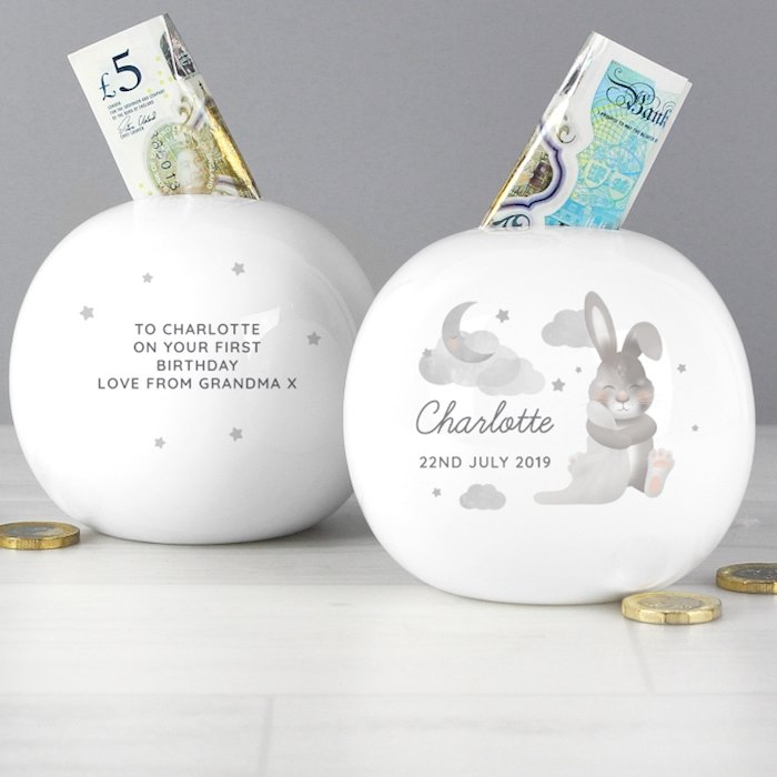 Baby Bunny Round Money Box