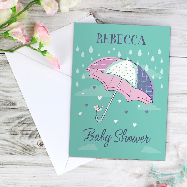 Baby Shower Umbrella Card
