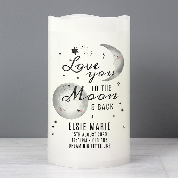 Baby To The Moon and Back LED Candle