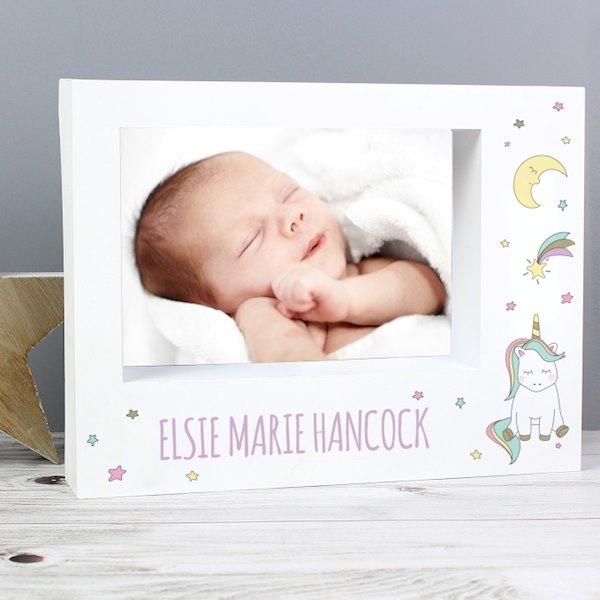 Baby Unicorn 7x5 Box Photo Frame