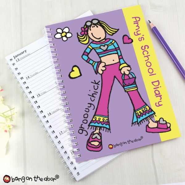 Bang on the Door Groovy Chick A5 Diary