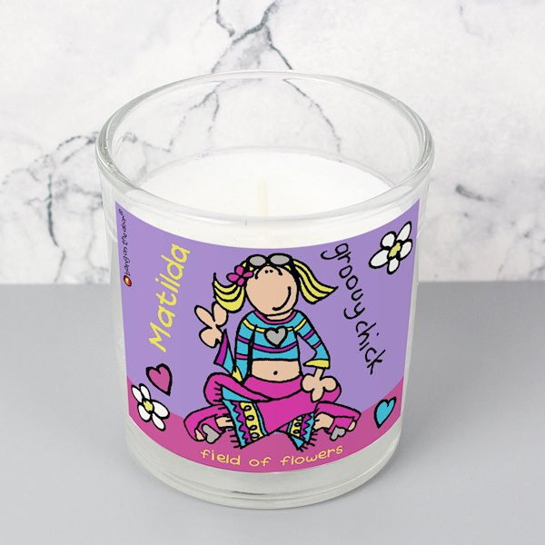 Bang on the Door Groovy Chick Scented Jar Candle