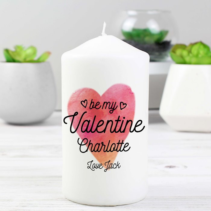 Be My Valentine Pillar Candle