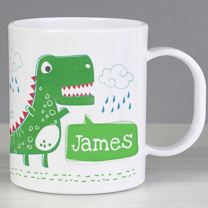 'Be Roarsome' Dinosaur Plastic Mug