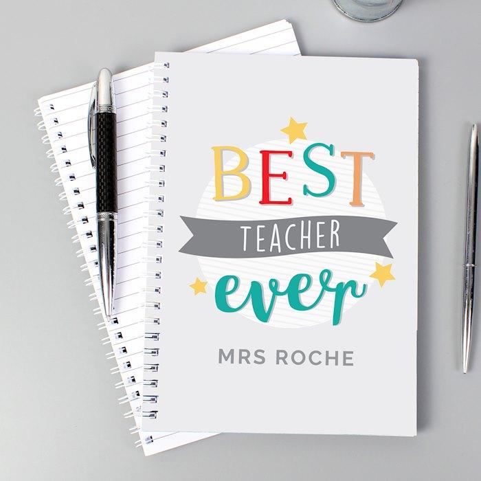 'Best Teacher Ever' A5 Notebook