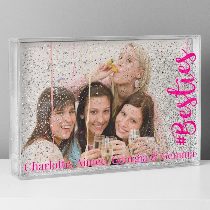 #Besties 6x4 Glitter Shaker Photo Frame