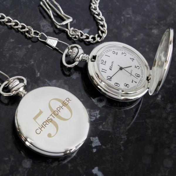 Personalised Birthday Big Age Pocket Fob Watch