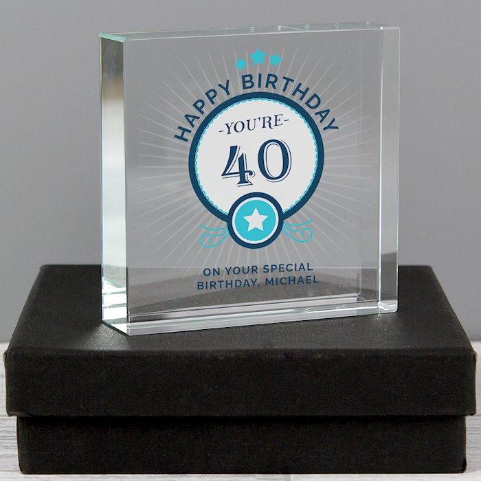 Birthday Large Crystal Token