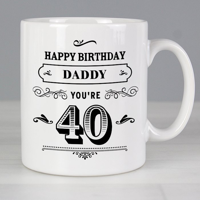 Birthday Vintage Typography Mug