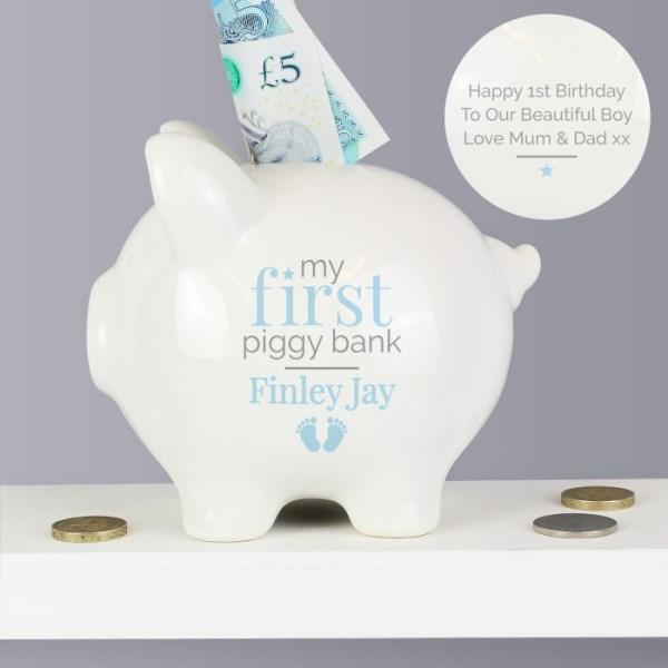 Blue My First Piggy Bank