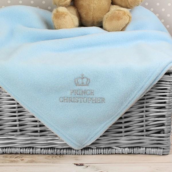 Blue Prince Baby Blanket