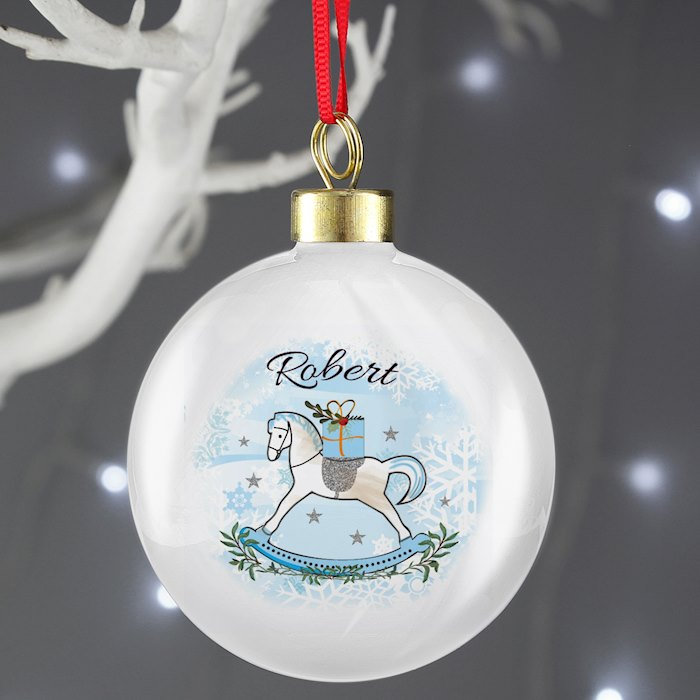 Blue Rocking Horse Bauble