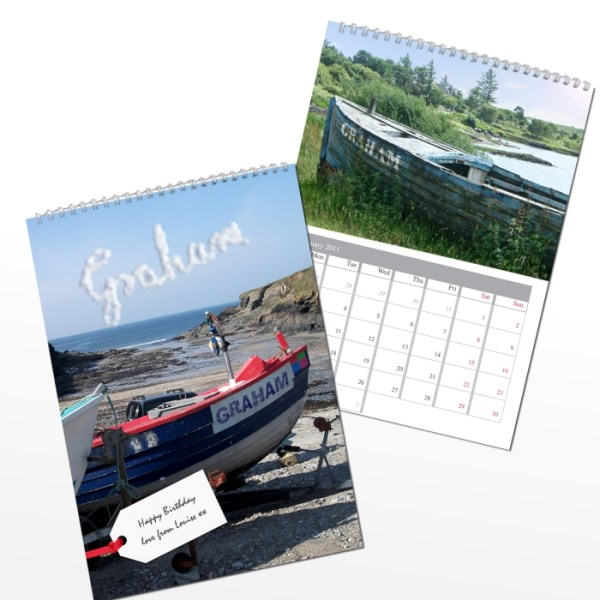 Personalised Boats A4 Wall Calendar