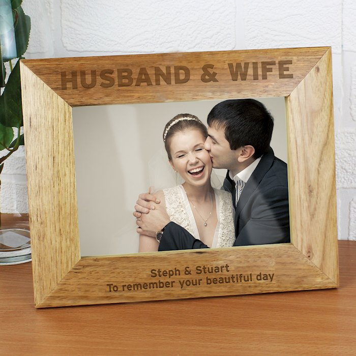 Bold Text 7x5 Wooden Photo Frame