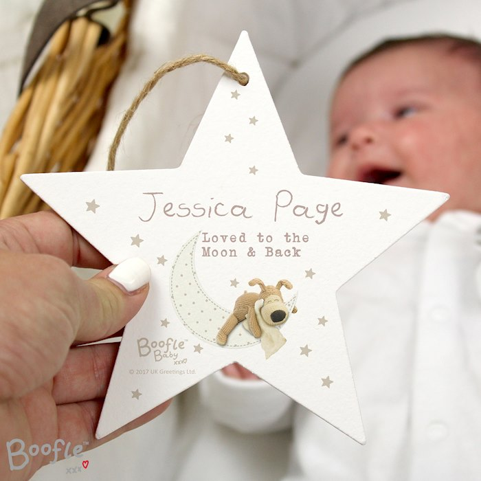 Boofle Baby Wooden Star Decoration