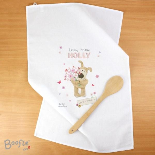 Boofle Flowers Tea Towel