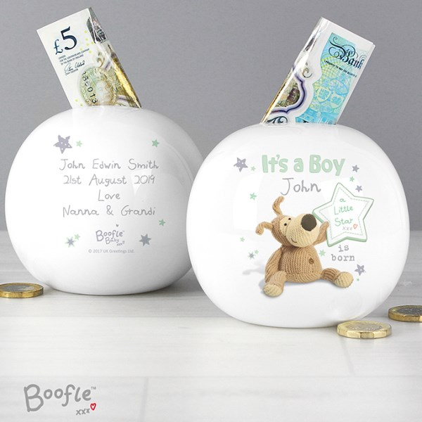 Boofle It's a Boy Money Box
