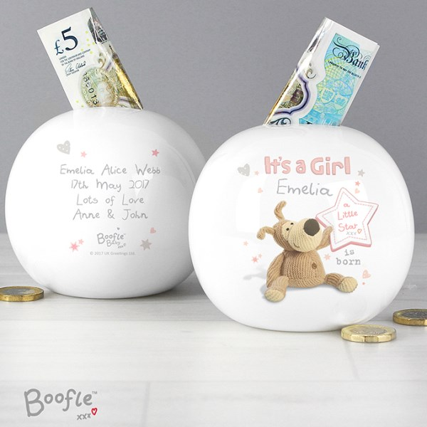 Boofle It's a Girl Money Box
